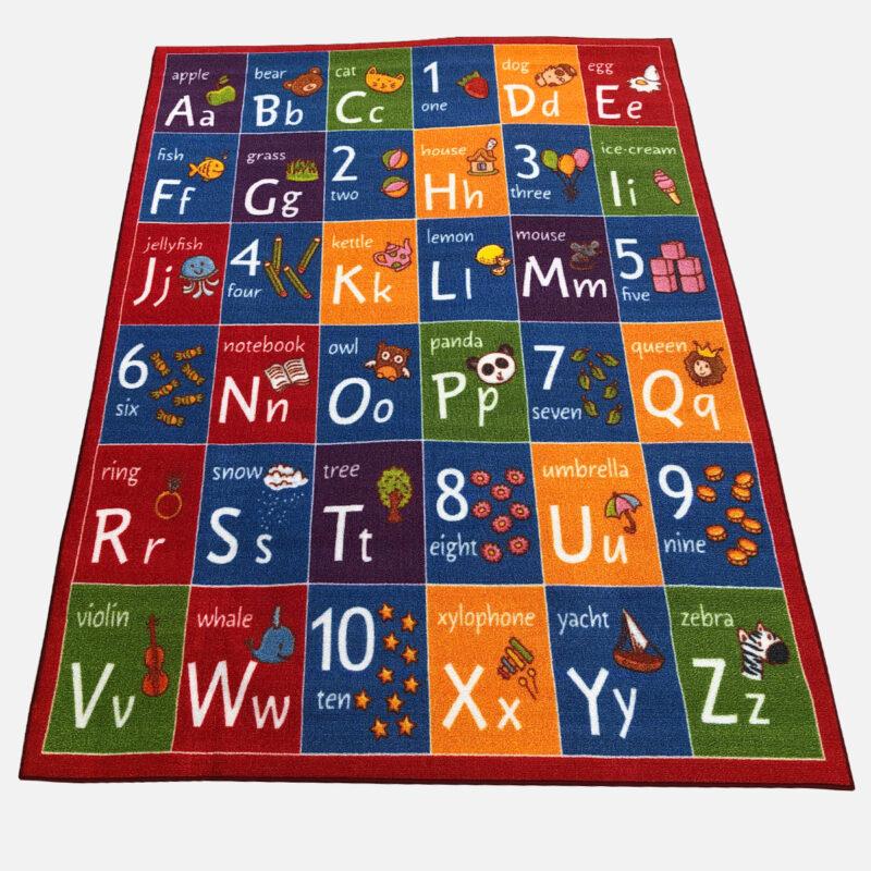 Gyerekszőnyeg 133x180 cm - Angol ABC és számok