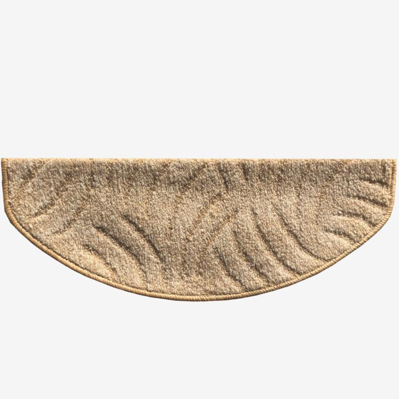 Lépcsőszőnyeg 65x24 cm - Világos beige színben karmolt mintával - hátulról
