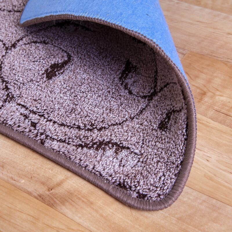 2 részes fürdőszoba szőnyeg - Barna színben inda mintával - hátoldal