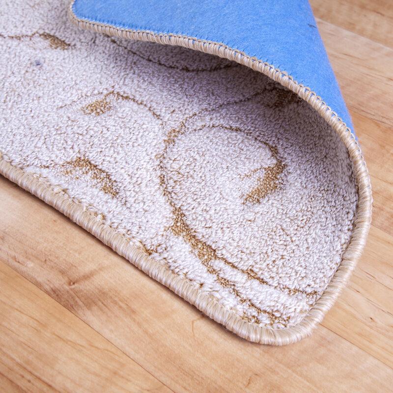 2 részes fürdőszoba szőnyeg - Beige színben inda mintával - hátoldal