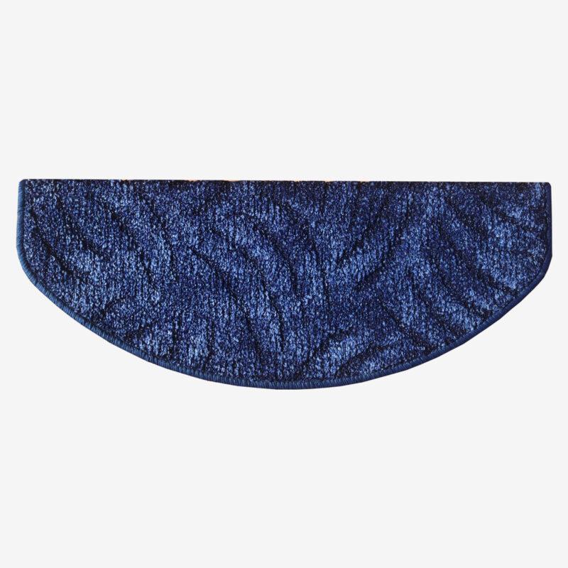Lépcsőszőnyeg 65x24 cm - Kék színben karmolt mintával