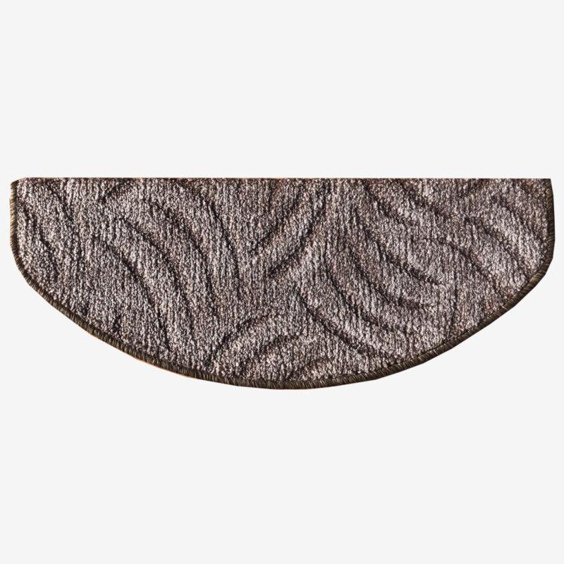 Lépcsőszőnyeg 65x24 cm - Szürkésbarna színben karmolt mintával