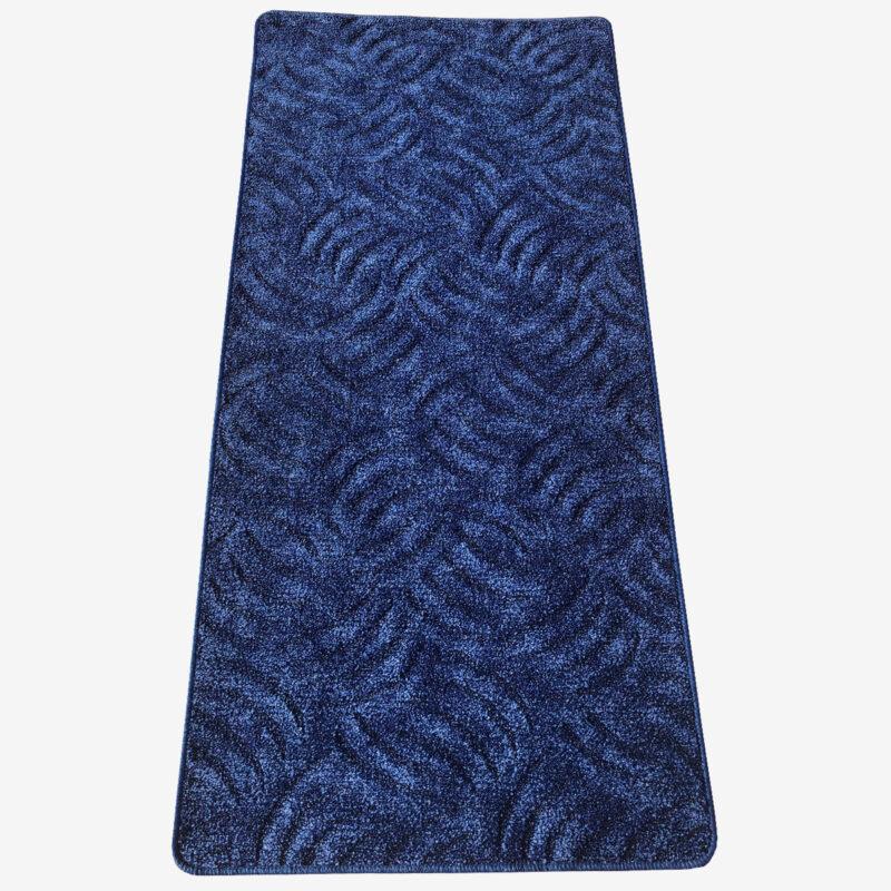 Szegett szőnyeg - Kék színben karmolt mintával