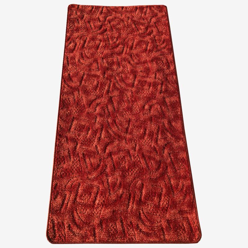 Szegett szőnyeg - Korallvörös színben absztrakt mintával