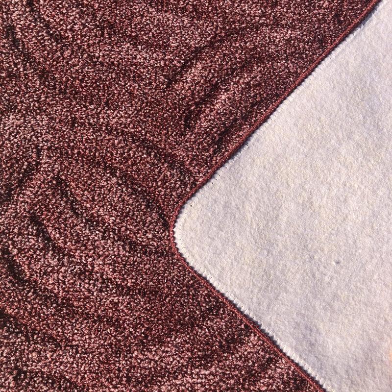 Szegett szőnyeg - Mályva színben karmolt mintával - hátoldal