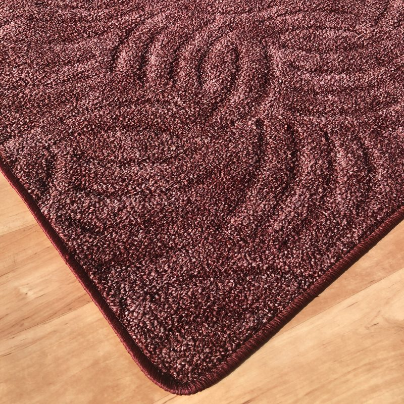 Szegett szőnyeg - Mályva színben karmolt mintával - sarok