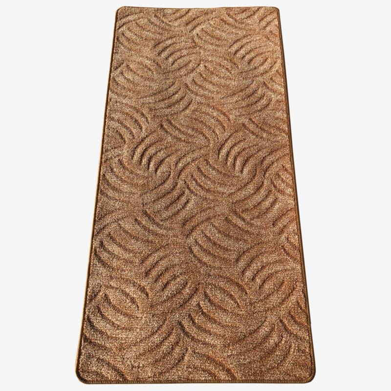 Szegett szőnyeg - Mogyoróbarna színben karmolt mintával