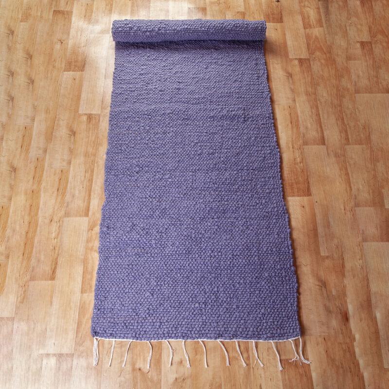 Gyapjú szőnyeg 70x200 cm - Lila színben