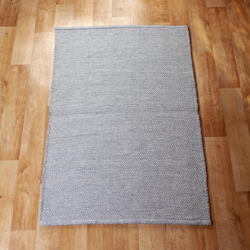Szürke rongyszőnyeg 70x100 cm