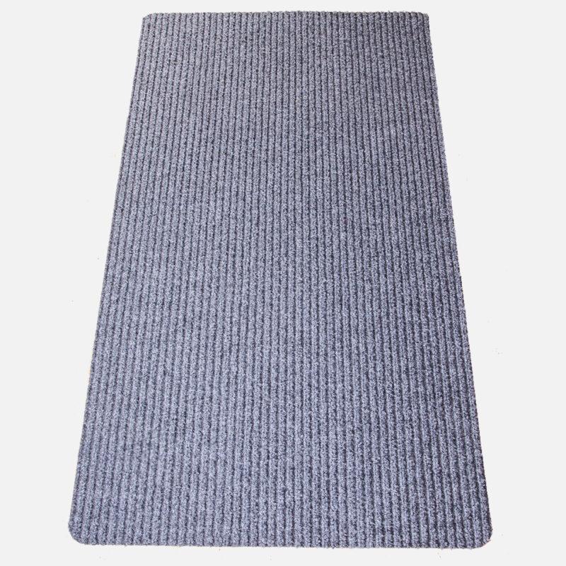 Gumis filc lábtörlő 70×120 cm – Világosszürke színben bordázott mintával - szürke