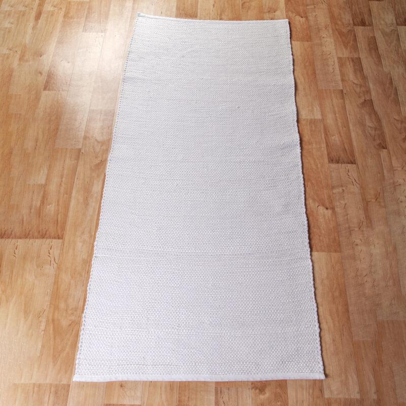 Rongyszőnyeg - fehér 70x150 cm