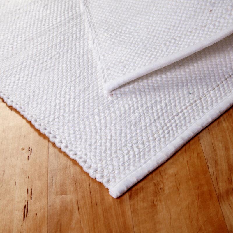 Rongyszőnyeg - fehér - hátoldal