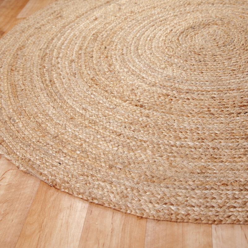 Kör alakú juta szőnyeg 120 cm - közeli