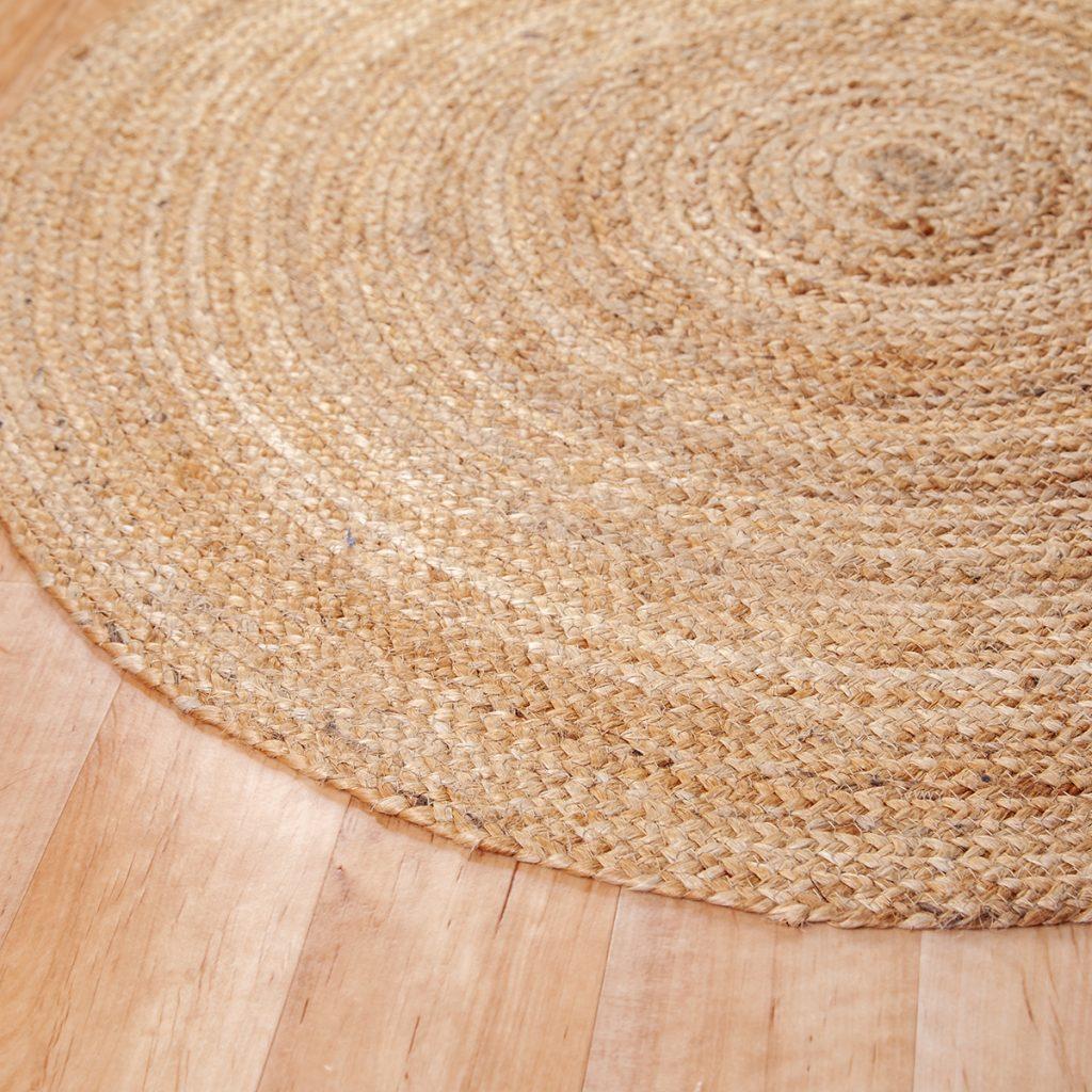 Kör alakú juta szőnyeg 90 cm - közeli