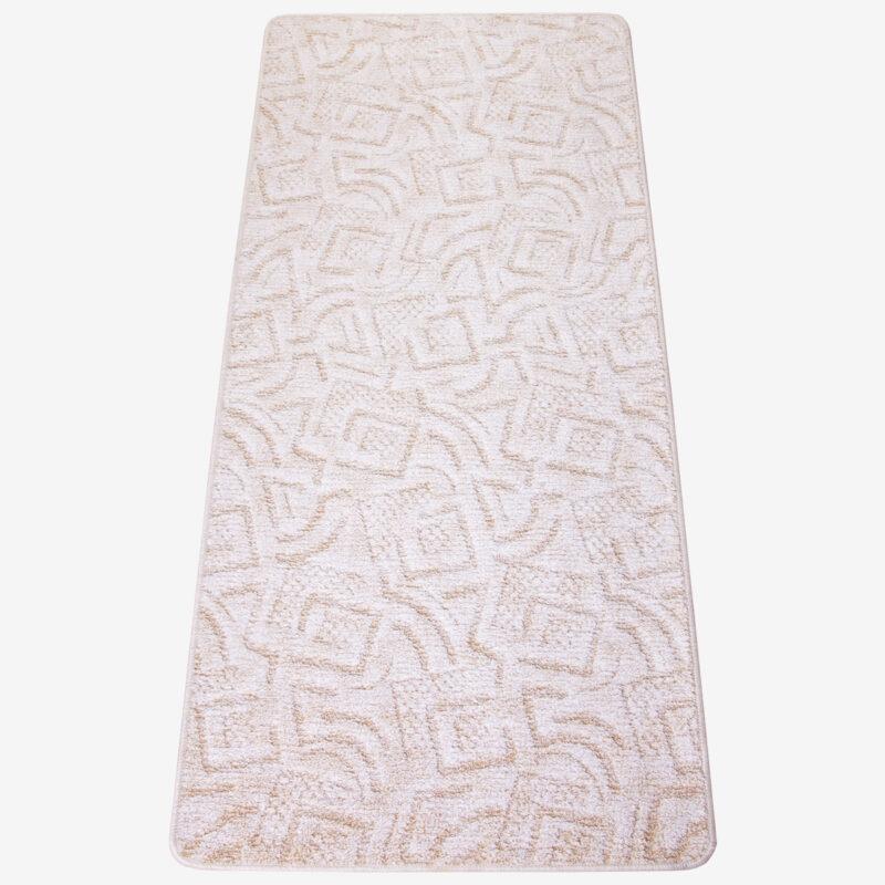 Szegett szőnyeg 70x150 cm - Beige színben absztrakt mintával