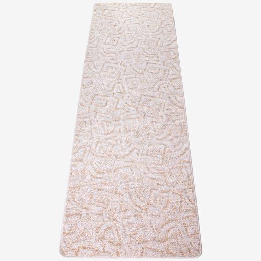 Szegett szőnyeg 70x200 cm - Beige színben absztrakt mintával