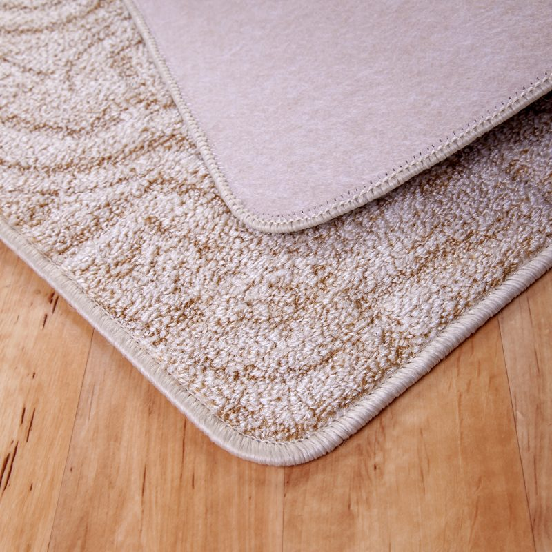 Szegett szőnyeg - Beige színben absztrakt mintával - hátoldal