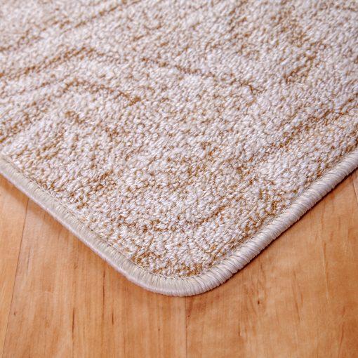 Szegett szőnyeg - Beige színben absztrakt mintával - sarok